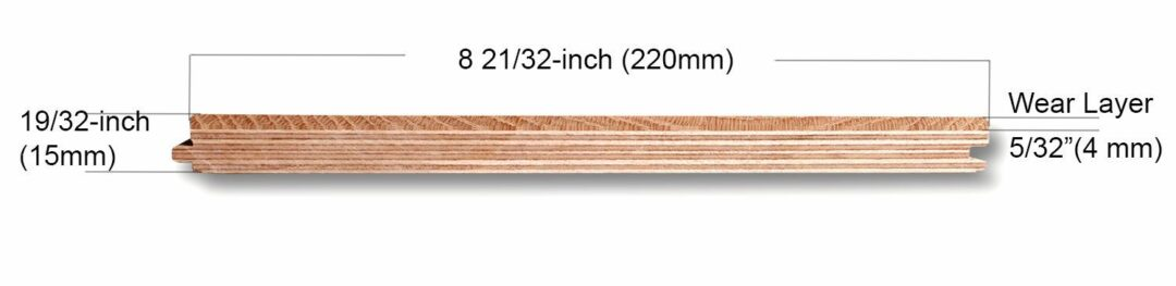 7.5 inch 4mm wear layer hardwood engineered flooring construction