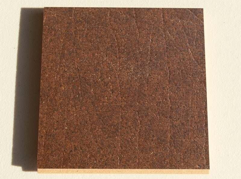 Burnt Sienna cork leather sample