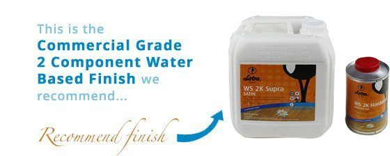 Commercial Grade 2 Component Water Based Finish loba at