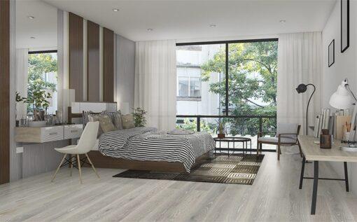 Horizon engineered hardwood flooring bedroom white oak wire brushed
