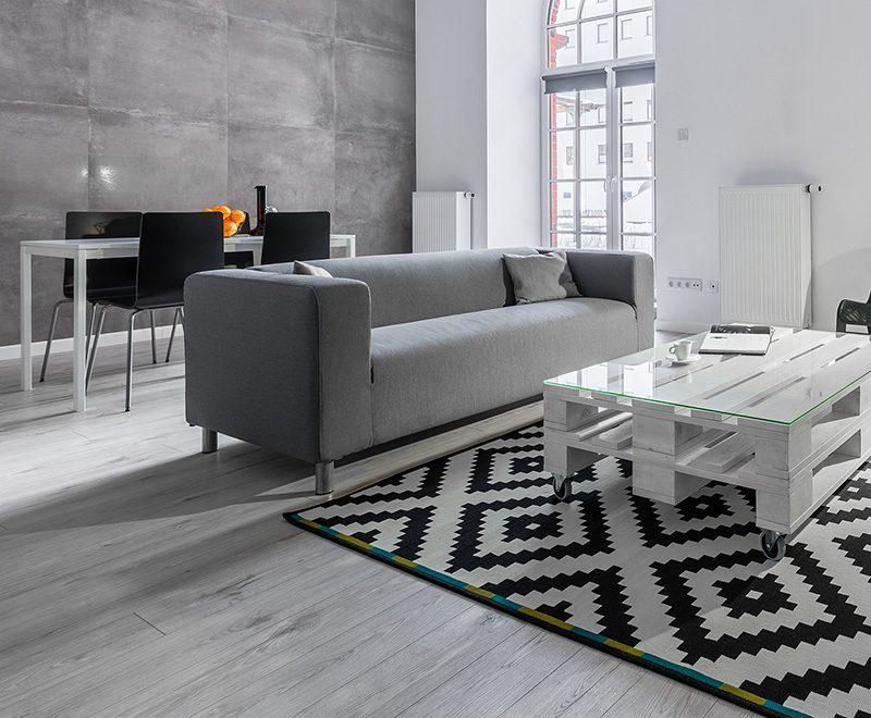 Iqaluit engineered hardwood flooring white oak wire brushed livingroom