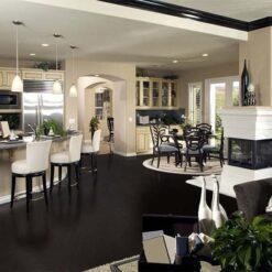 Jet black forna black cork flooring kitchen Interior iesign
