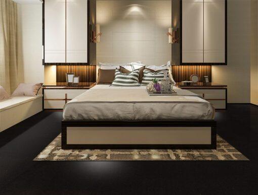 Jet black forna cork flooring bedroom green Interior design architecture photos