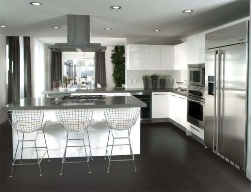 Jet black forna cork flooring kitchen Interior design architecture photos