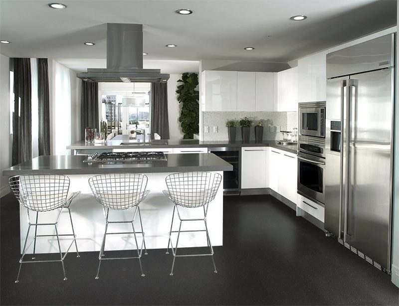 Jet black forna cork flooring kitchen Interior design architecture photos
