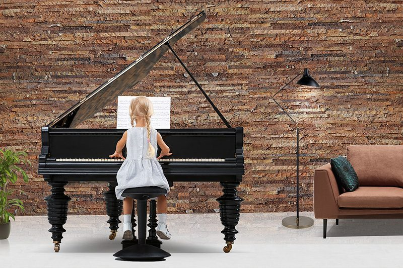 Ledge stone narrow brick cork wall panel reduce noise and control sound sound-absorbing piano room