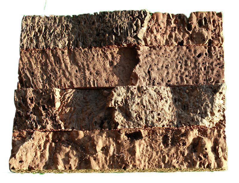 Narrow bricks cork wall panels tiles sample