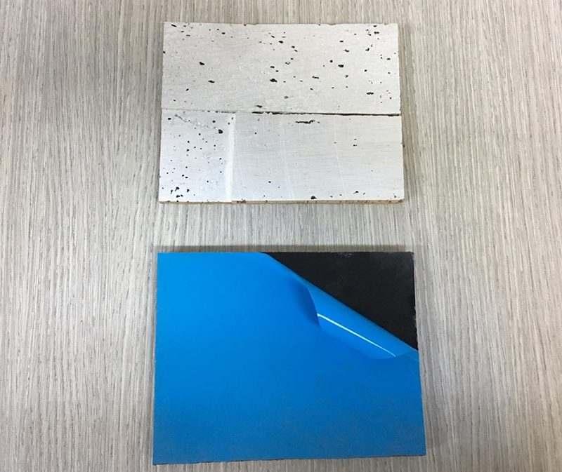 antico avorio peel and stick cork wall tiles ceiling sample