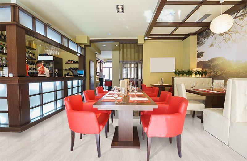 ash wood forna fusion cork flooring interior sushi restaurant