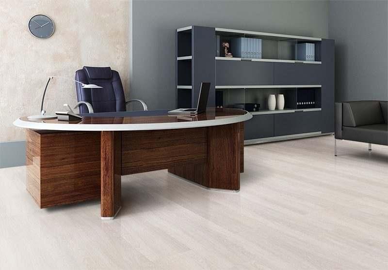 ash wood fusion cork floor contemporary office interior design