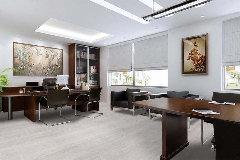 ash wood fusion cork floor modern office interior design