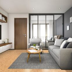 autumn leave cancork cork flooring living room and bedroom in luxury apartment