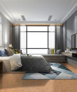 autumn leaves cork flooring luxury modern bedroom suite in hotel with wardrobe
