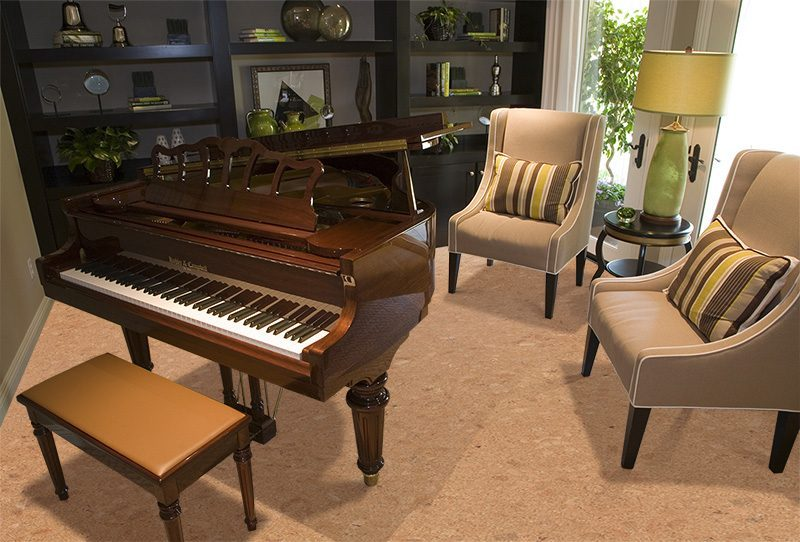 autumn leaves cork floors grand piano luxury home