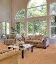 autumn leaves cork floors luxury home great room vaulted ceilings