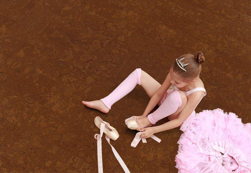 autumn ripple cork floor ballerina in the ballet hall