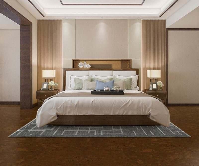 autumn ripple cork floor interior design knee pain relief comfortable bedroom