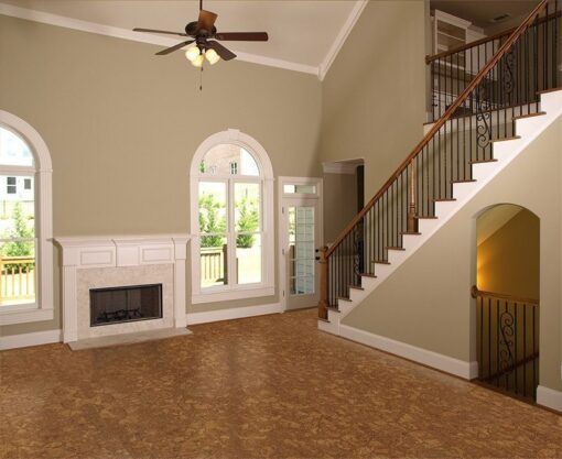 autumn ripple cork flooring beveled luxury home loving room