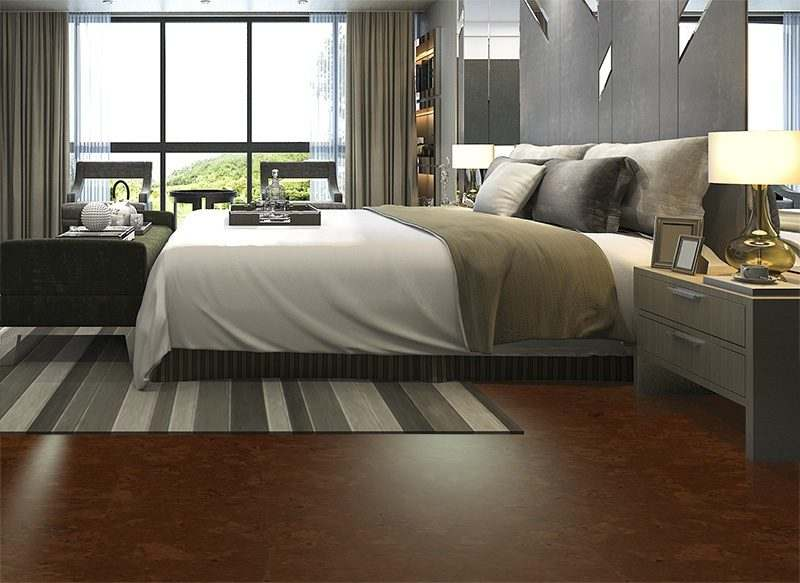 autumn ripple cork flooring forna luxury modern bedroom suite in hotel