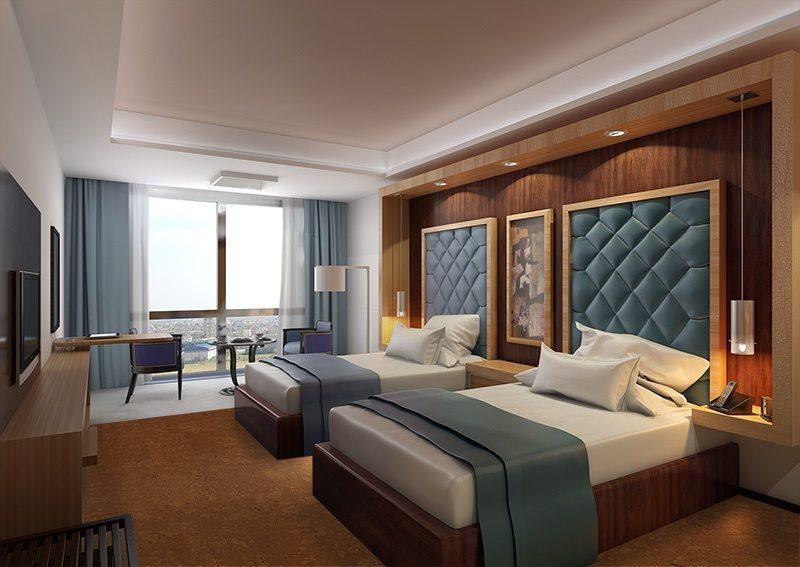 autumn ripple cork modern hotel bed room interior soundproof