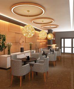 autumn ripple cork warm hotel lobby floor,jpg