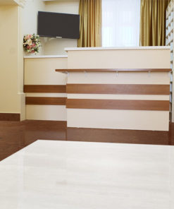 autumn ripple white leather cork tiles dental office commercial