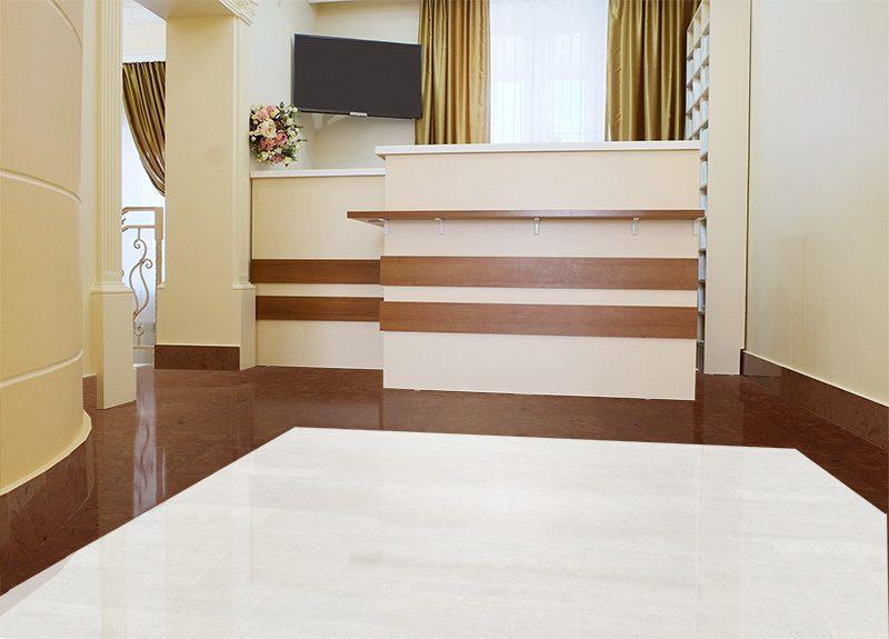 autumn ripple white leather cork tiles dental office commercial