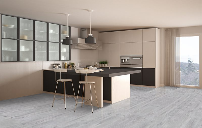 barn wood forna fusion cork classic white gray kitchen