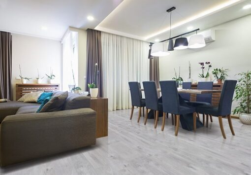 barn wood forna fution cork floor dining room viyle like modern apartment