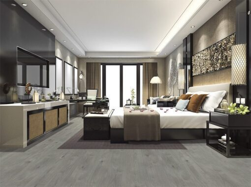 barn wood fusion cork floor resistant luxury modern bedroom suite in hotel
