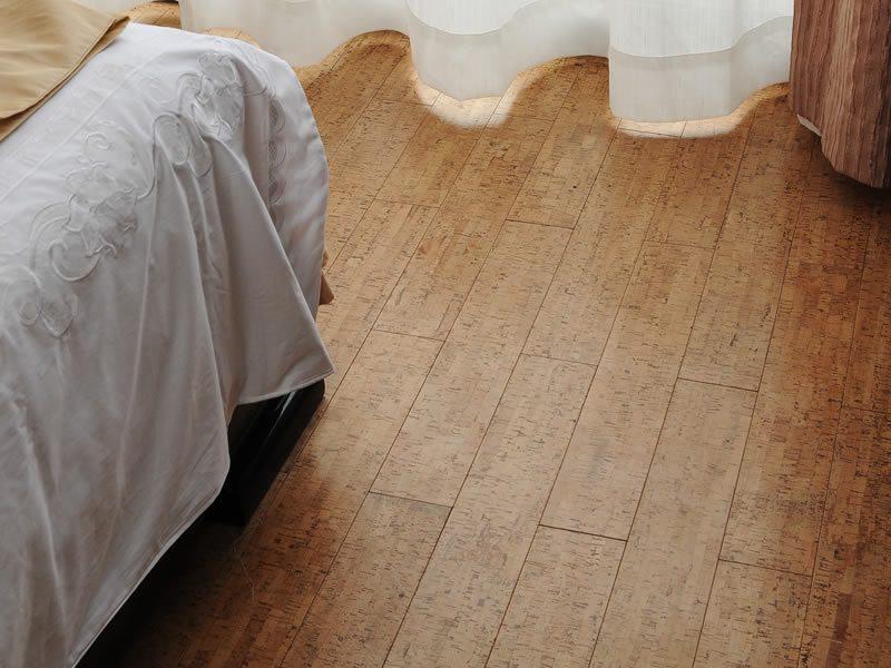 bedroom design with cork flooring