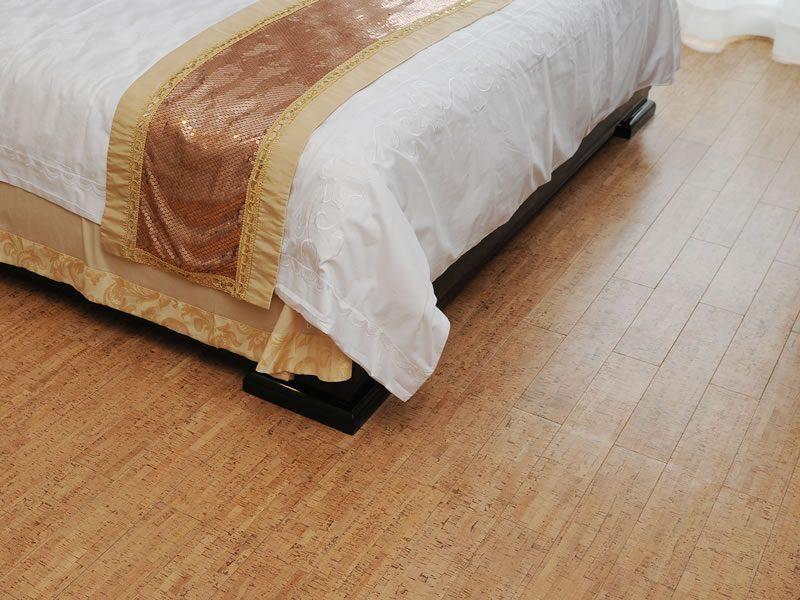 bedroom design with forna cork floor