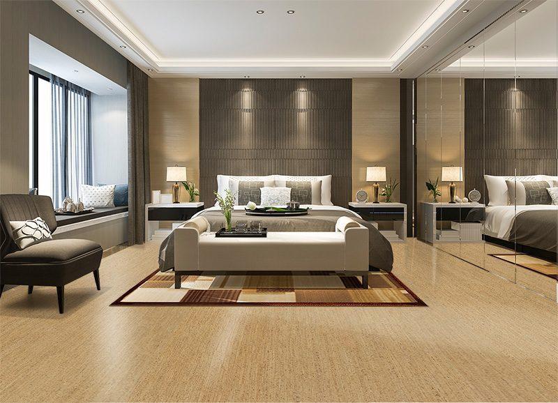 berber cork floor beautiful luxury bedroom suite in hotel with mirror wardrobe