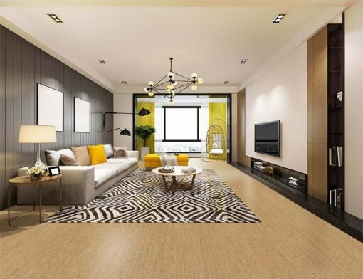 berber cork floor design modern dining room and living room interior design luxury architecture