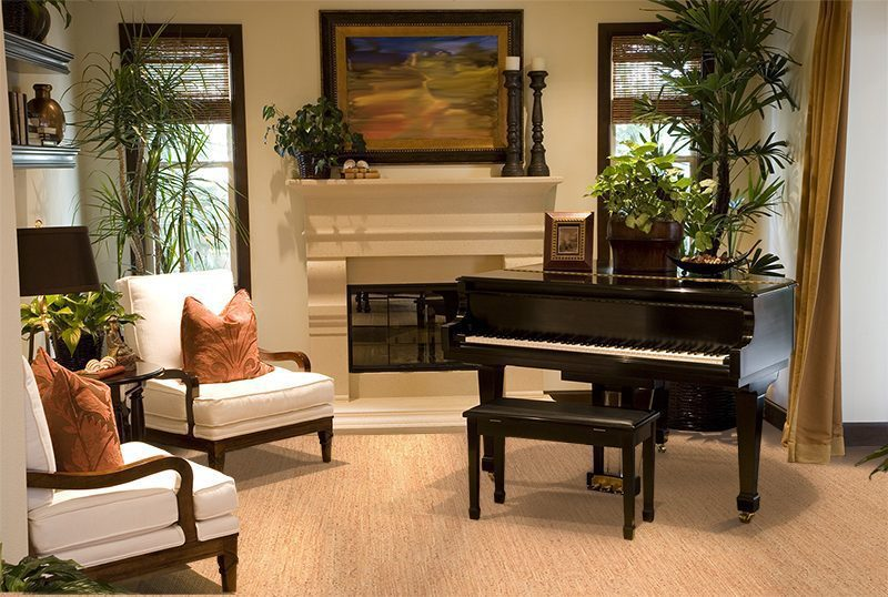 berber cork floor forna grand piano music lounge room