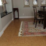 bevelled edge cork flooring ripple basement covering