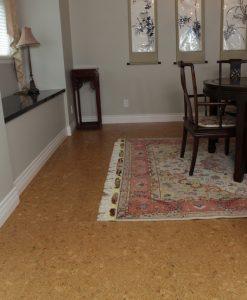 bevelled edge cork flooring ripple basement covering