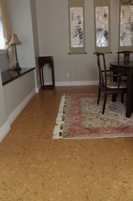 Bevelled edge cork flooring ripple 10sf per box for Is cork flooring good for basements