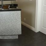 black cork flooring home bar