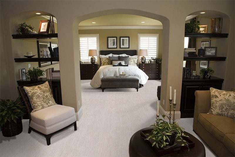 bleached birch cork floor interior design bedroom contemporary furniture decor