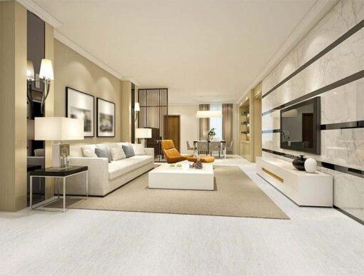 bleached birch forna cork flooring modern living room soft white