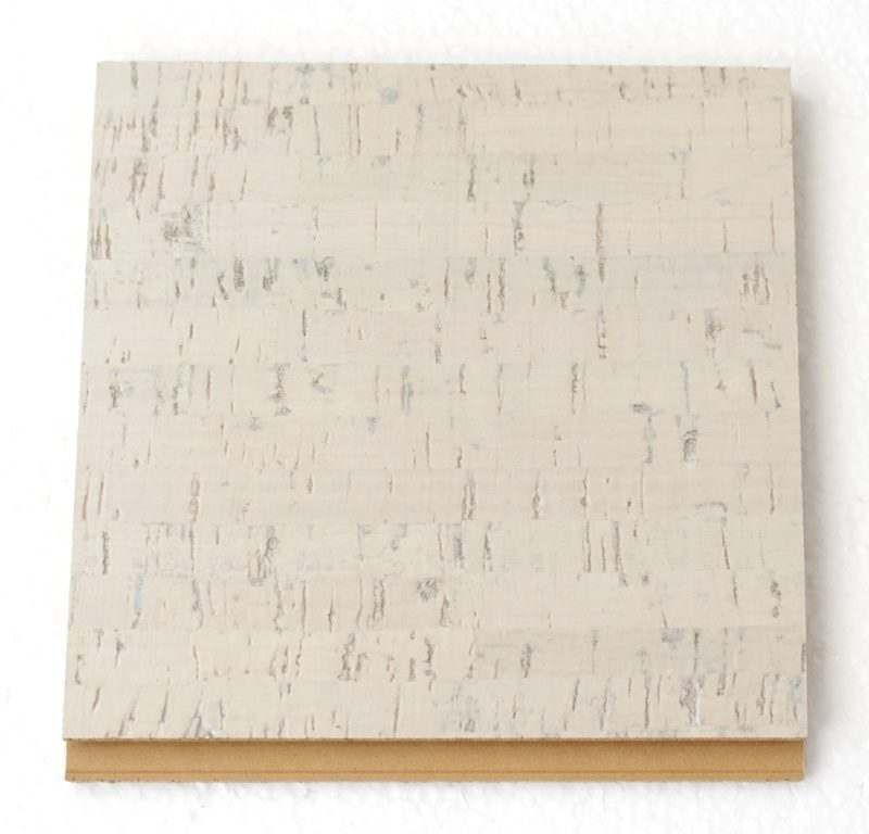 bleached birch forna cork tiles sample