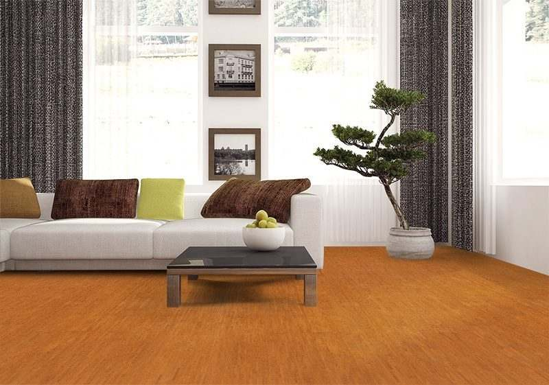 brown birch forna cork flooring appartment scandinavian style