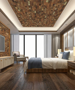 brown brick cork wall ceiling panels fire resistant sound absorbing