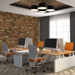 brown brick cork wall panels stop office noise soundproofing acoustic treatment
