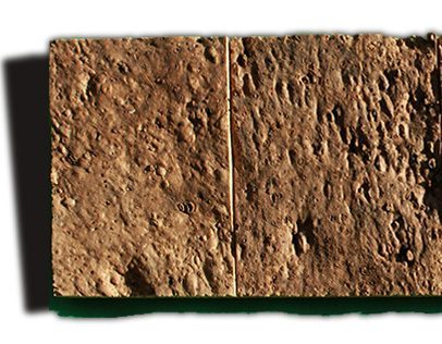 brown bricks cork wall panels tiles sample