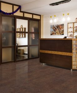 brown salami forna cork floors hotel reception room dark