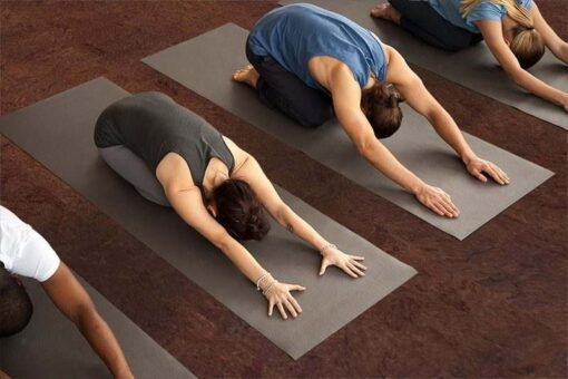 brown salami forna cork yoga floor exercise working out studio healthy flooring
