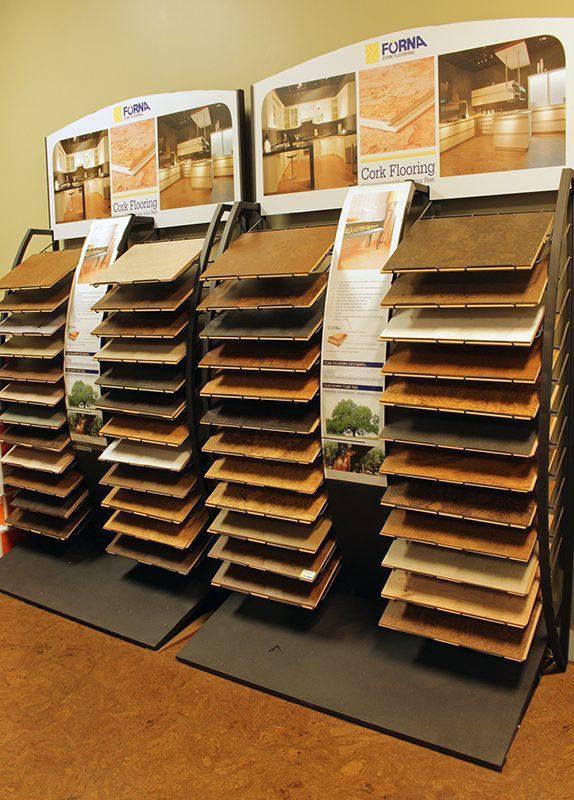 cancork floor cork flooring display