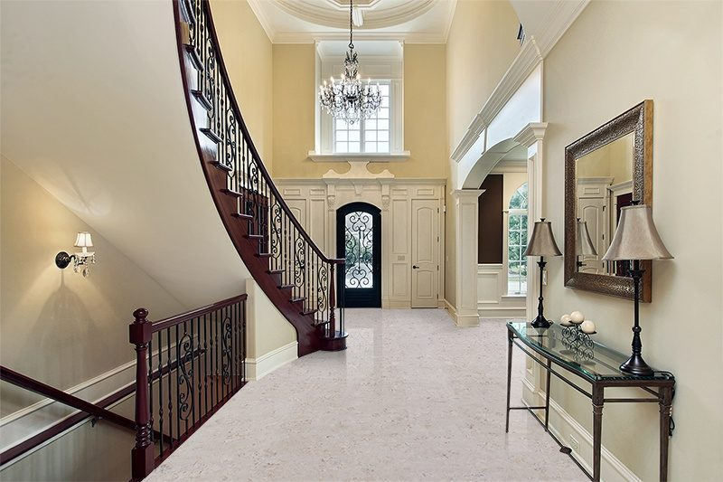 ceramic marble cork floors foyer luxury home